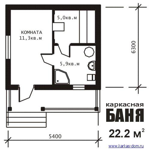 Проект русской бани